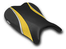 LuiMoto Team Suzuki Seat Covers for 2006-2007 Suzuki GSX-R 600/750 - CF Black/Deep Yellow/CF Silver
