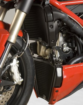 R&G Racing Radiator Guards for 2012-2013 Ducati Streetfighter 848 (2 pieces)