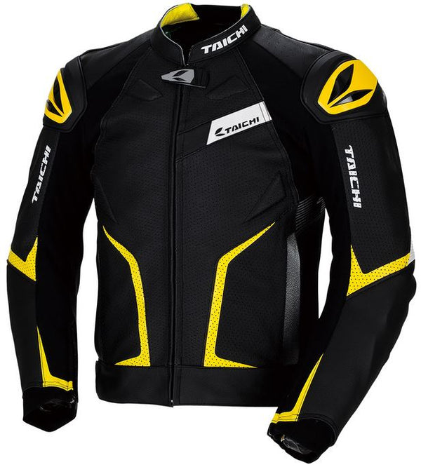 RS TAICHI GMX RSJ832 Arrow Leather Jacket (Black/Yellow)