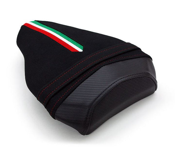 LuiMoto Team Italia Suede Leather Passenger Seat Cover '09-'15 Ducati Streetfighter