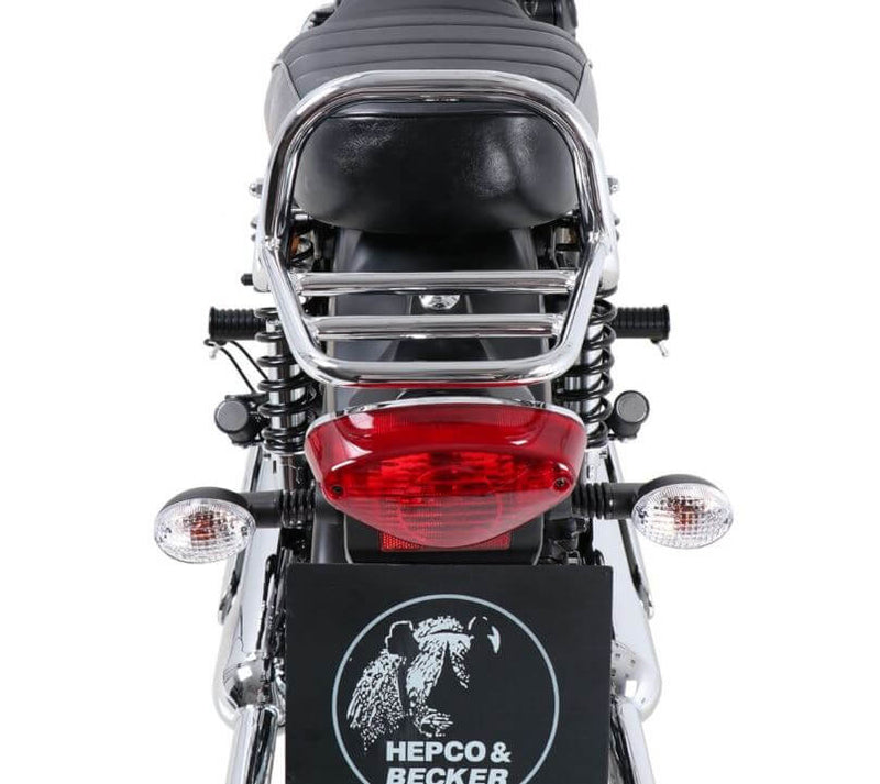 Hepco & Becker Rear Rack (Not For Top Cases) '19+ Kawasaki W800 Street/ Cafe - Chrome
