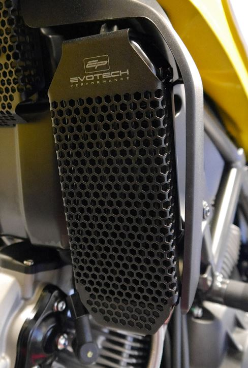 Evotech Performance Oil Cooler Guard for 2015+ Ducati Scrambler (All Models), 2017+ Monster 797