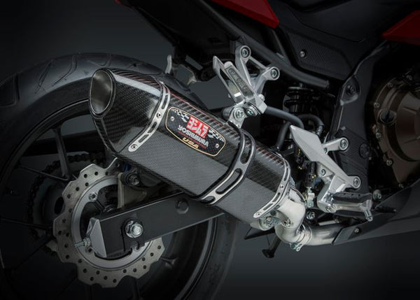 Yoshimura Signature R-77 SS/Carbon Slip-On Exhaust '16-'18 Honda CBR500R
