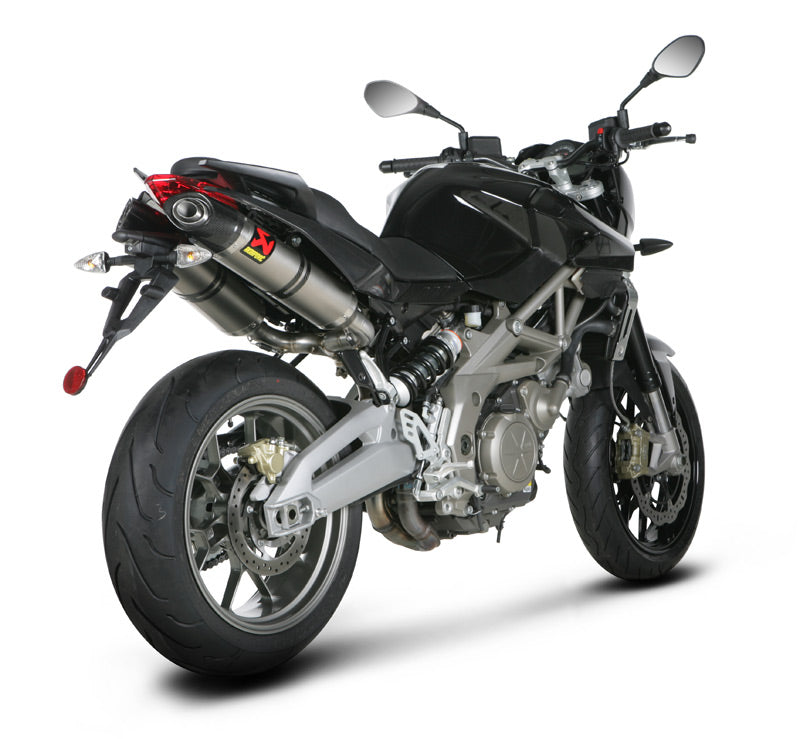 Akrapovic Slip-on Line (Titanium) EC Type Approved Exhaust System For 2010-2015 Aprilia Shiver 750 / GT