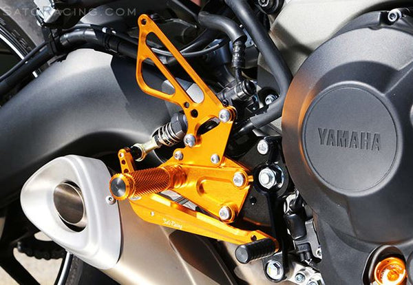 Sato Racing Adjustable Rearsets for 2014-2015 Yamaha FZ09 / MT09
