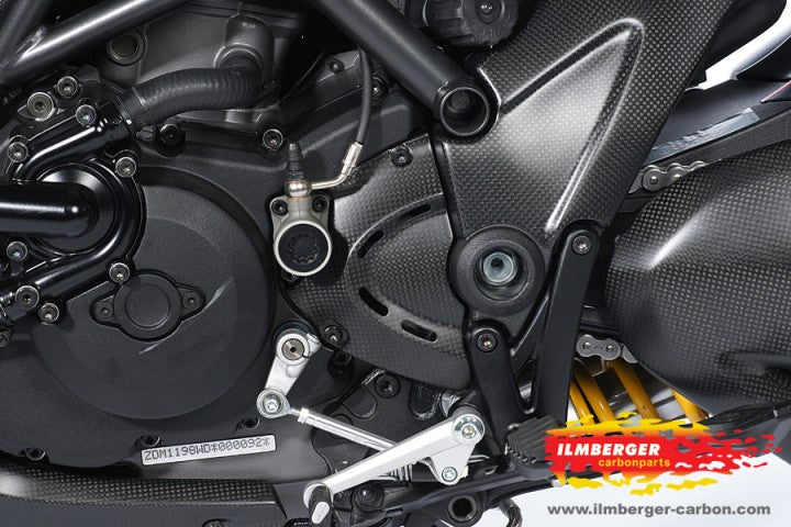 ILMBERGER Carbon Fiber Front Sprocket Cover 2011-2012 Ducati Diavel