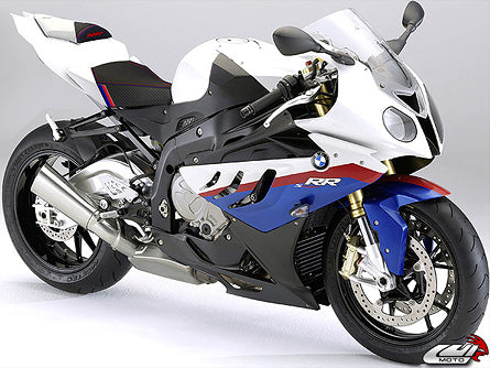 LuiMoto Motorsports Edition Seat Cover 09-2011 BMW S1000RR - Black/White