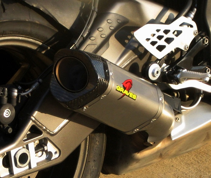 Graves Motorsports Titanium Slip On Exhaust System for 2010-2014 BMW S1000RR