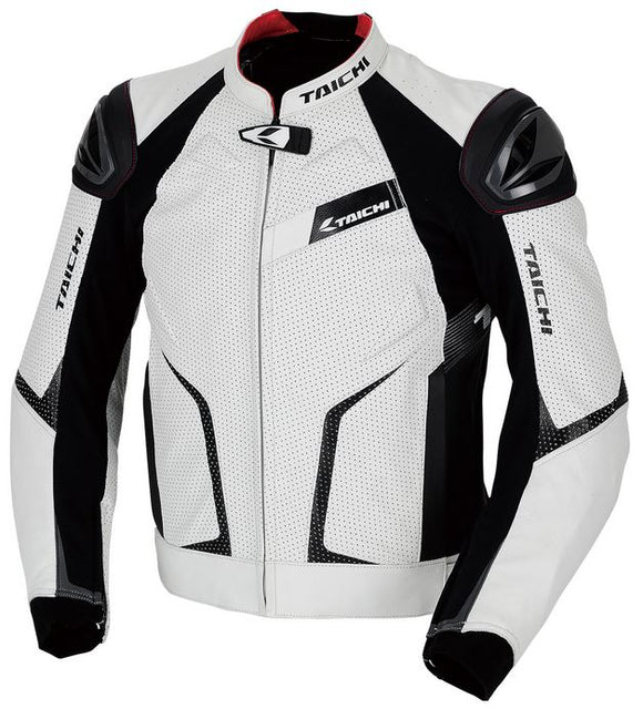RS TAICHI GMX RSJ832 Arrow Leather Jacket (White/Black)