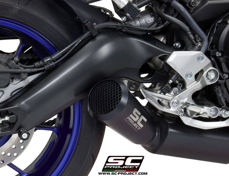 SC Project 70s Stainless Black 3-1 Full Exhaust 2017-2019 Yamaha MT-09/FZ-09