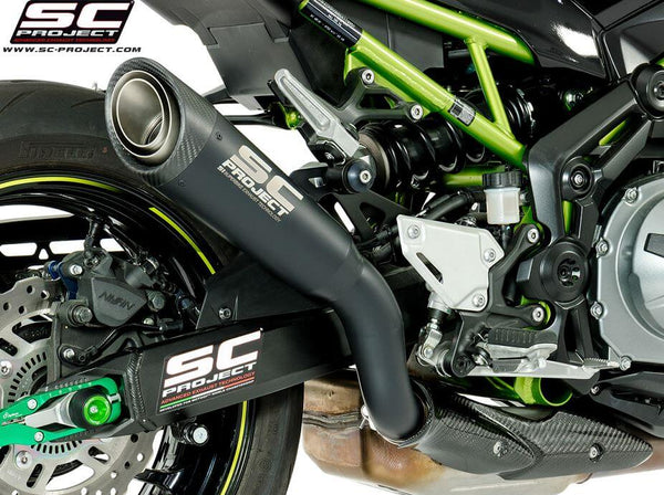 SC Project S1 Titanium Matt Black Slip-On Exhaust 2017+ Kawasaki Z900