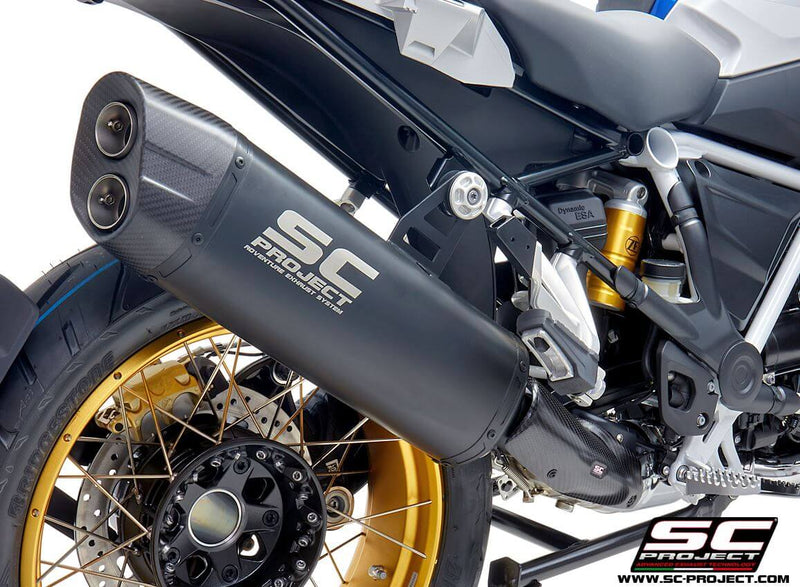 SC Project Adventure Titanium Matte Black Slip-On Exhaust 2019 BMW R1250GS/ADV