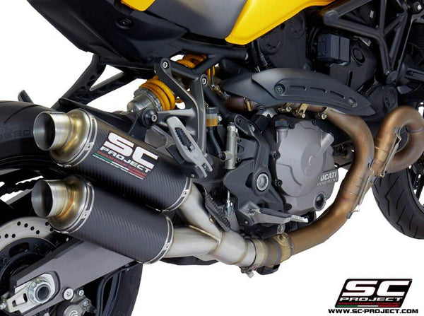 SC Project Twin GP Carbon Slip-On Exhaust 2018-2019 Ducati Monster 821