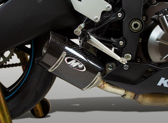 M4 Carbon Street Slayer Slip On Exhaust 2019+ Kawasaki ZX6R
