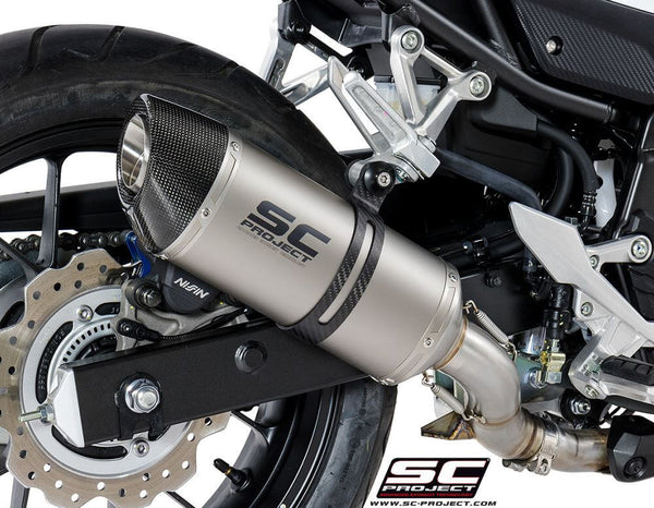 SC Project Oval Slip-On Exhaust 2017-2018 Honda CBR500R, CB500F/X