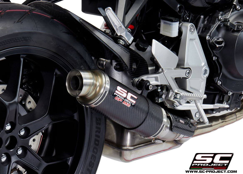 SC Project GP-M2 Carbon Slip-On Exhaust 2018+ Honda CB1000R Neo Sports Cafe