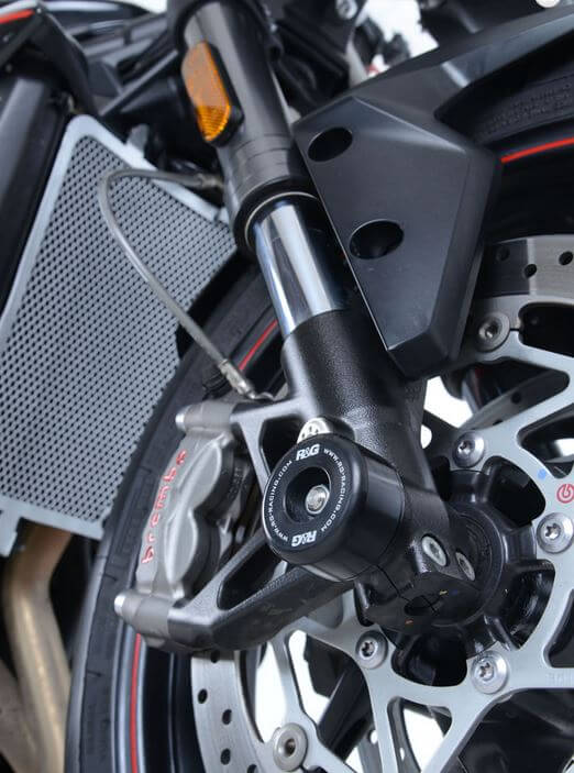 R&G Racing Fork Protectors 2017-2018 Triumph Street Triple/R/S/RS 765 | FP0198BK