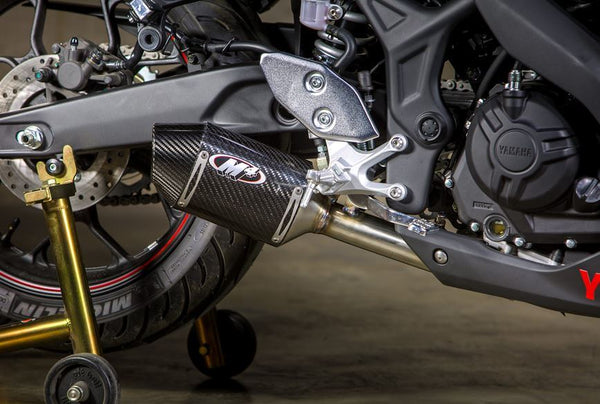 M4 Carbon Street Slayer Slip-On Exhaust 2015-2017 Yamaha R3