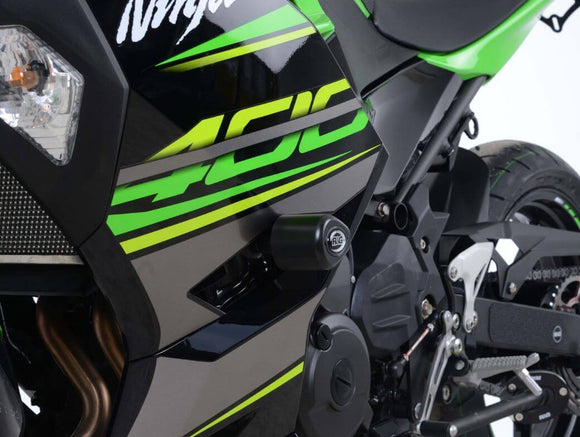 R&G Racing Aero No-Drill Frame Sliders 2018+ Kawasaki Ninja 400