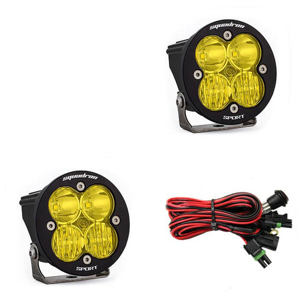 Baja Designs Squadron-R Sport LED Auxiliary Lights | Amber
