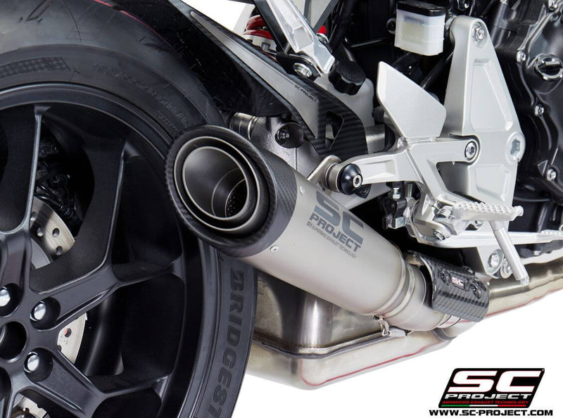 SC Project S1 Titanium Slip-On Exhaust 2018+ Honda CB1000R Neo Sports Cafe