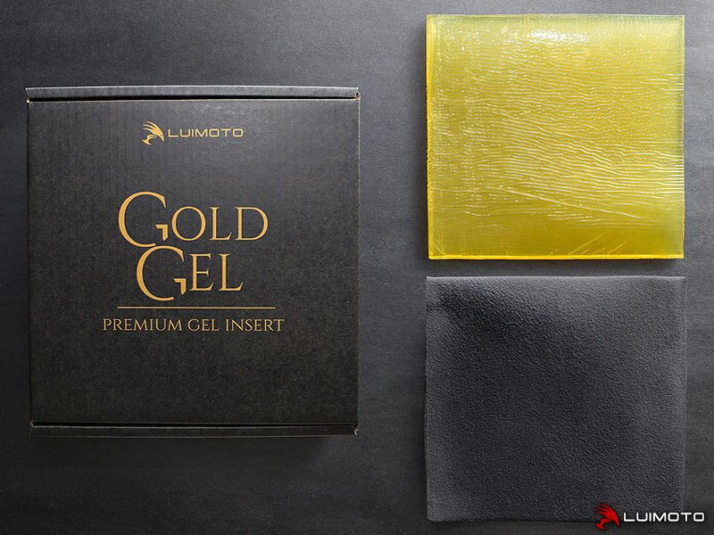 LuiMoto Premium Gold Gel Insert Pad for Motorcycle Seat