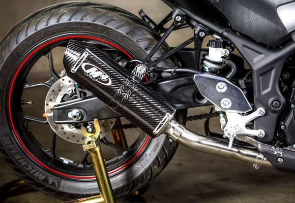 M4 Race / Standard Full Exhaust Systems 2015-2017 Yamaha R3 | Carbon