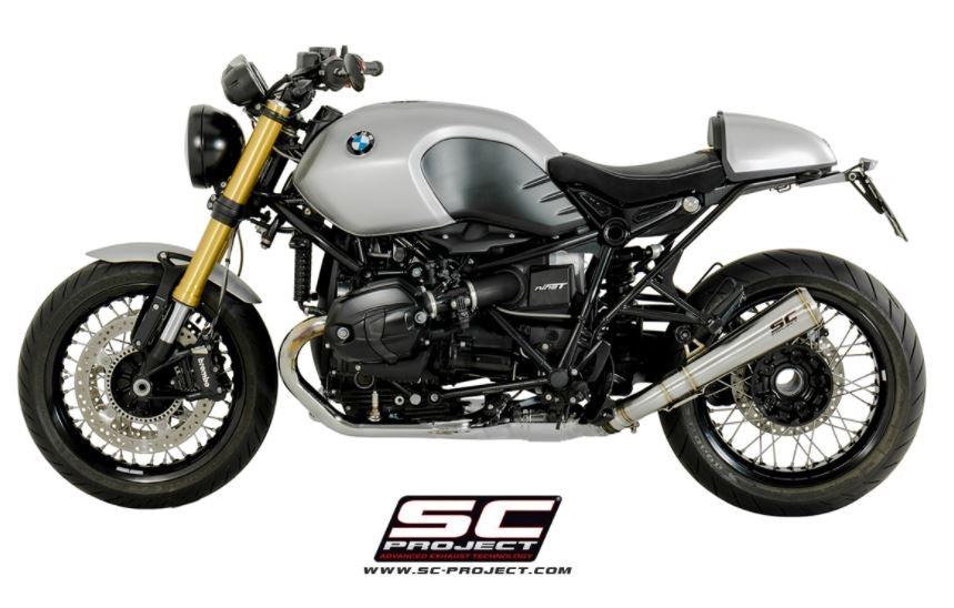 sc project conic 39 70s slip on exhaust for bmw r nine t. Black Bedroom Furniture Sets. Home Design Ideas