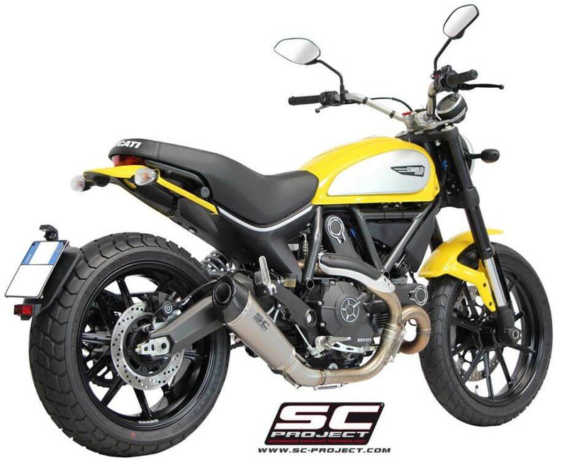 SC Project Conical Slip-On Exhaust 2015-2018 Ducati Scrambler 800