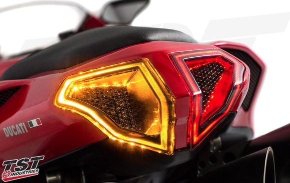 TST Industries Integrated Sequential Tail Light for Ducati 848/1098/1198