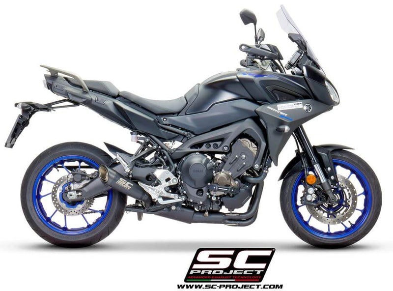 SC Project S1 Titanium Matte Black 3-into-1 Full Exhaust '17-'19 Yamaha Tracer 900/GT