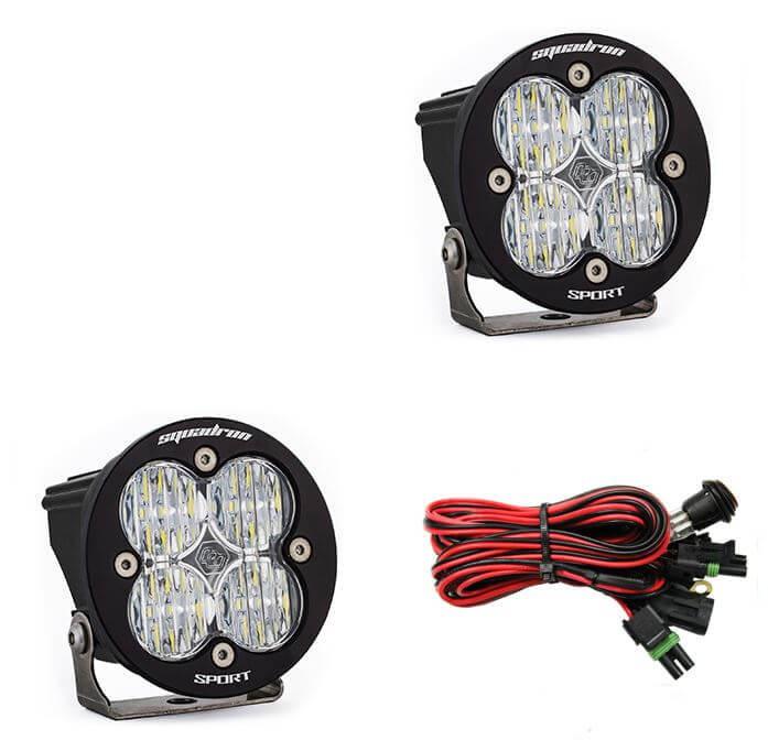 Baja Designs Squadron-R Sport LED Auxiliary Lights | White