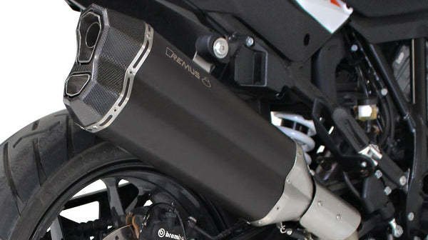REMUS 8 Slip-On Exhaust Systems '17-'18 KTM 1090 Adventure/R, '13-'18 1190 Adventure/R, '13-'18 1290 Super Adventure/R