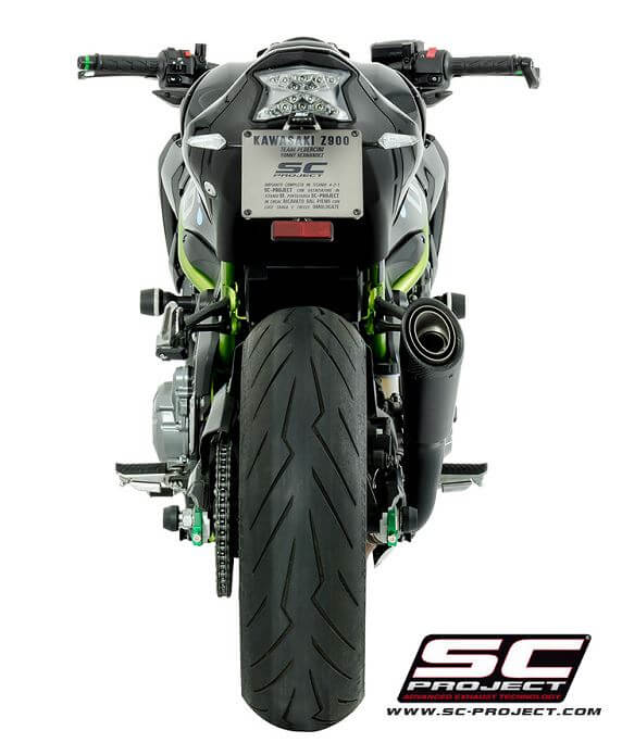 SC Project S1 Titanium Matt Black Slip-On Exhaust '17-'20 Kawasaki Z900