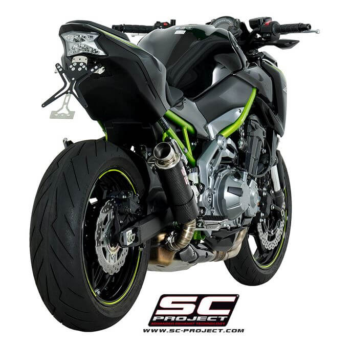SC Project GP-M2 Carbon Slip-On Exhaust System '17-'20 Kawasaki Z900