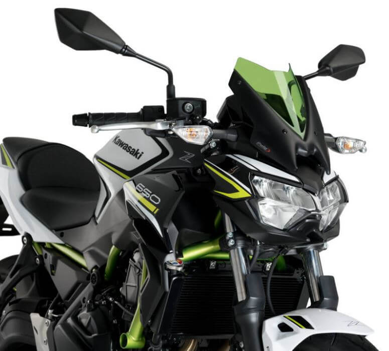 Puig Naked New Generation Sport Windscreens 2020+ Kawasaki Z650