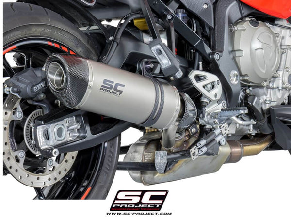 SC Project (Low Position) Oval Slip-on Exhaust for 2015-2018 BMW S1000XR
