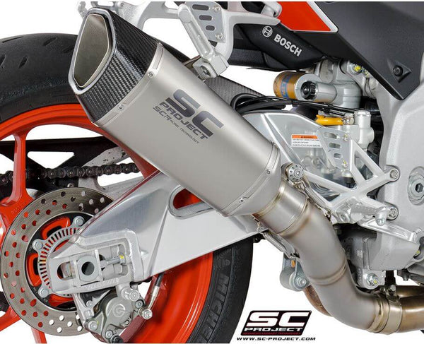 SC Project SC1-R Slip-On Exhaust for '17-'18 Aprilia Tuono V4 1100 RR/Factory, '17 RSV4 RR/RF