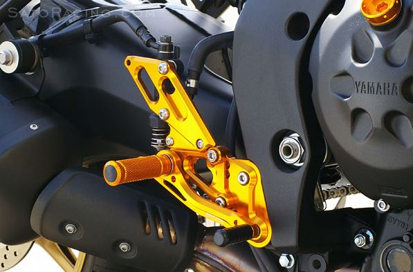Sato Racing Adjustable Rearsets (Reverse Shift) for '10-'14 Yamaha FZ8 non-ABS, '06-'14 FZ1