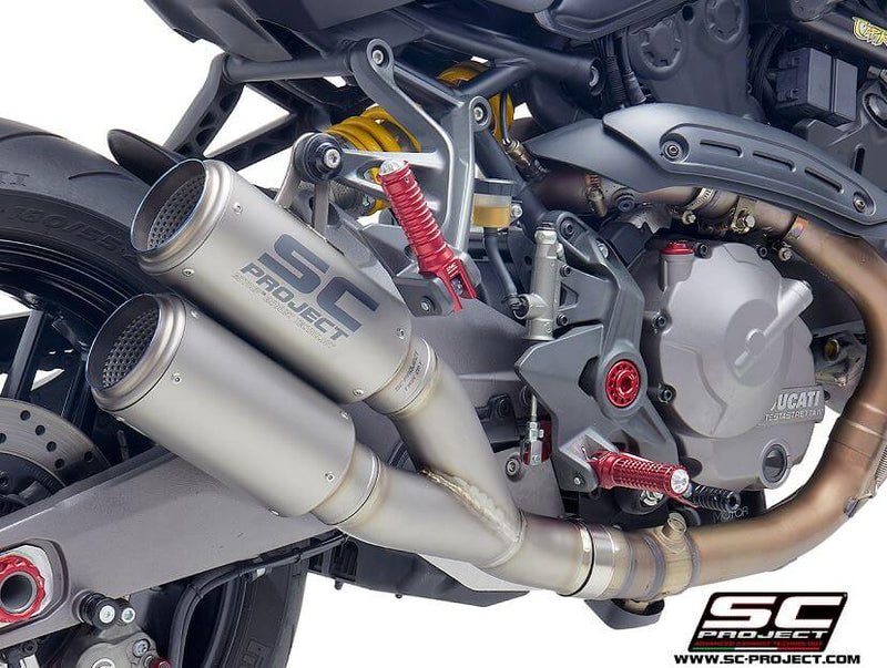 SC Project Twin CR-T Slip-On Exhaust 2018-2019 Ducati Monster 821