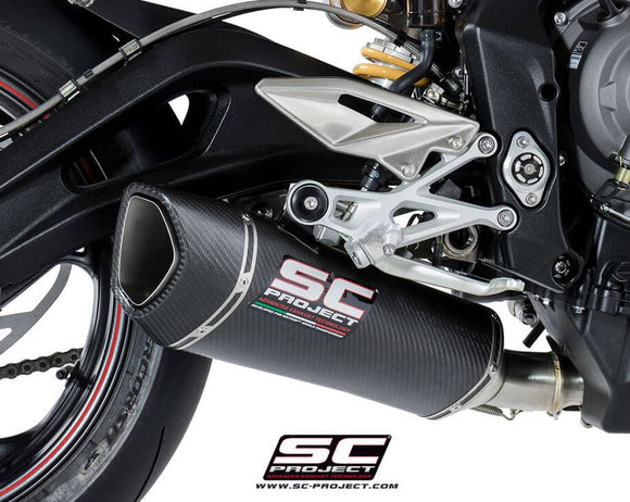 SC Project SC1-R Slip-On Exhaust 2017-2018 Triumph Street Triple 765 S/R/RS | T18-93