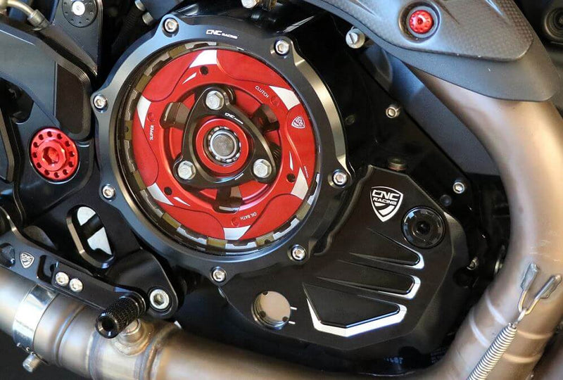 CNC Racing Clear Oil Bath Clutch Covers for Ducati