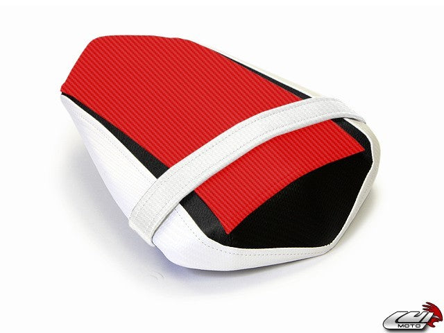 LuiMoto Limited Edition Seat Cover '09-'14 Yamaha YZF R1 - CF Red/White
