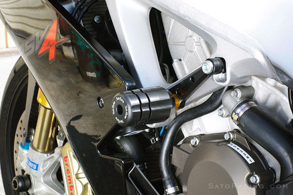 Sato Racing No-Cut Frame Sliders 2009-2015 Aprilia RSV4 R / Factory APRC
