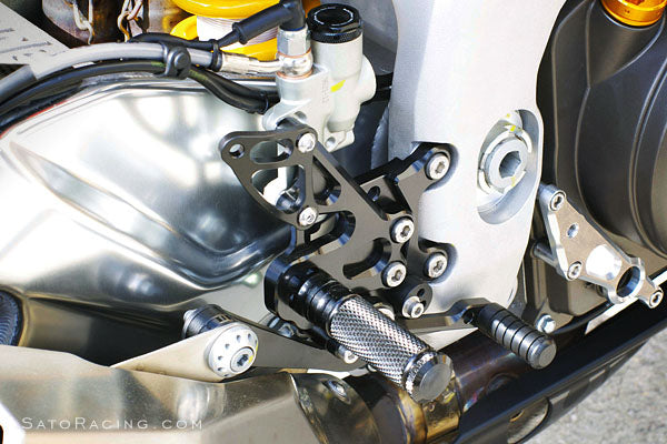 Sato Racing Adjustable Rearsets 09-12 Aprilia RSV4