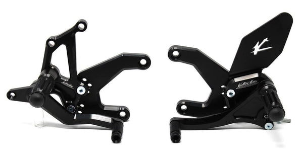 Valter Moto Type 1.5 Adjustable Rearsets '17-'20 Kawasaki Z900 ABS