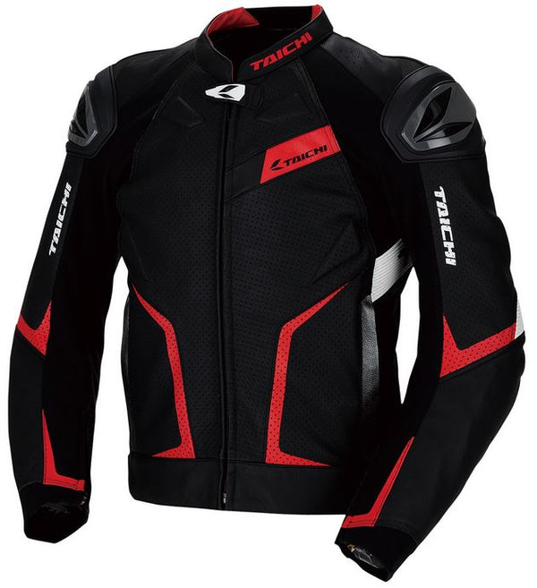 RS TAICHI GMX RSJ832 Arrow Leather Jacket (Black/Red)