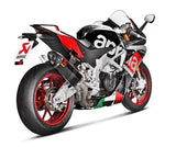Akarapovic Evolution Line (Carbon) Full Exhaust System 2015-2017 Aprilia RSV4 RR/RF | S-A10E8-RC
