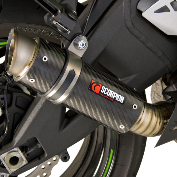 Scorpion RP-1 GP Slip-on Exhaust System 2011-2012 Kawasaki ZX10R - Carbon