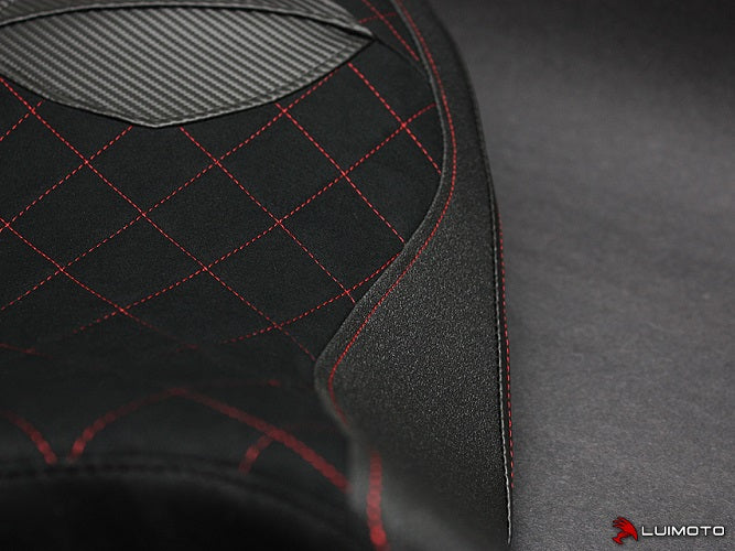 LuiMoto Diamond Edition Seat Covers For 2013-2014 Ducati Hypermotard